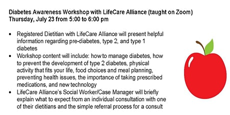 Diabetes Awareness Workshop (on Zoom) tickets