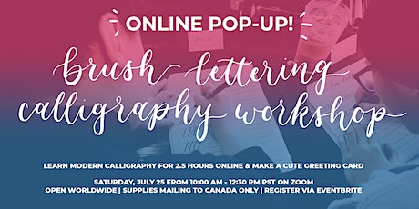 Calligraphy Online Workshop (Brush Lettering Calligraphy for Beginners!) tickets