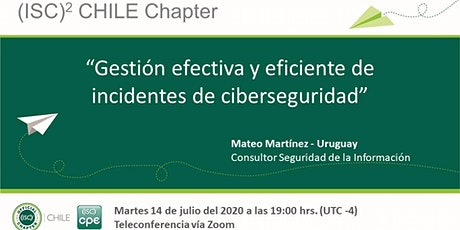 Charla (ISC)² Chile Chapter / Julio 2020 billets