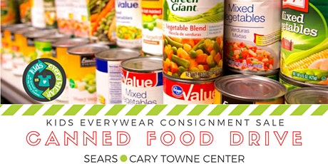 Bring 3 cans of food & shop Kids EveryWEAR Consignment Sale tickets