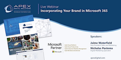 Incorporating Your Brand in Microsoft 365 | Webinar tickets