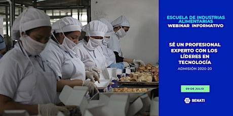 Escuela de Industrias Alimentarias - Charla Informativa Online entradas