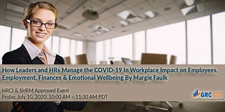 How Can Leaders and HR Professionals Manage the COVID-19 Pandemic tickets