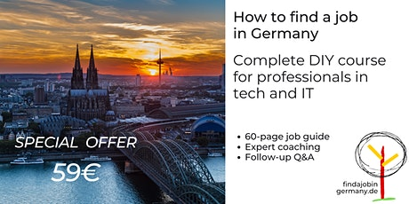 How to find a job in Germany in IT: Complete DIY Course Tickets