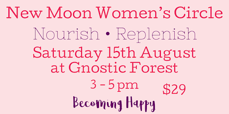 New Moon Women's Circle - August 15th tickets