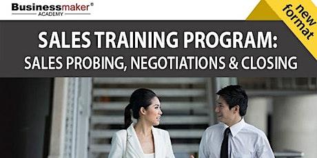 Live Webinar: Sales Training Program tickets