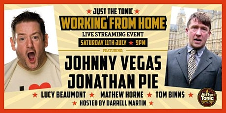 Working From Home - Live Stream with Johnny Vegas tickets