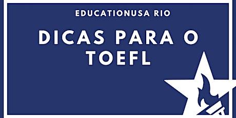 Dicas para o TOEFL ingressos