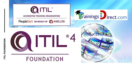 ITIL 4  FOUNDATION  LIVE COURSE - $549 with PeopleCert Exam tickets