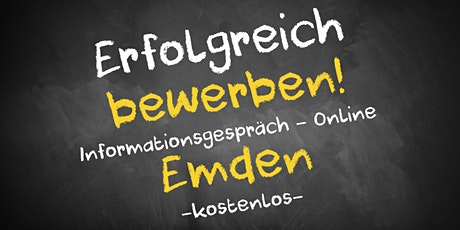 Bewerbungscoaching Informationsgespräch Online - AVGS Emden Tickets