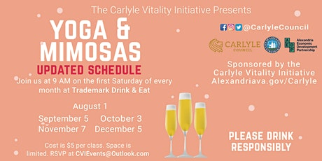 Yoga and Mimosas Event Series starts again on August 1st tickets