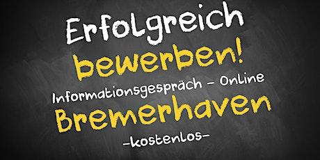 Kopie von Bewerbungscoaching Infoveranstaltung AVGS Bremerhaven Tickets