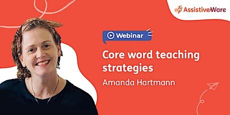 Core word teaching strategies tickets