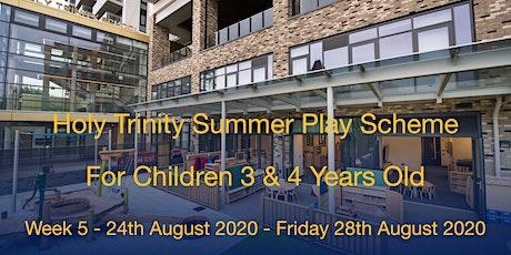 Summer Play Scheme 2020  - Week 5 (Mon 24th August - Fri 28th August) tickets