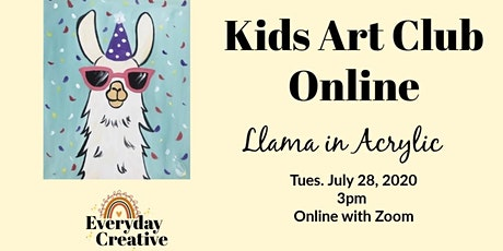 Kids Art Club: Llama in Acrylic tickets