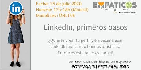LinkedIn, primeros pasos entradas