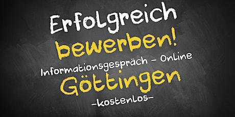 Bewerbungscoaching Online kostenfrei - Infos - AVGS Göttingen Tickets