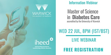 MSc Diabetes: University of Warwick - Info Webinar - IE/UK Jul 2020 tickets