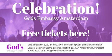 Gods Embassy Amsterdam Celebration 12-7 tickets