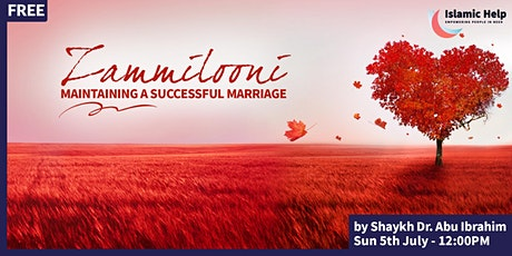 Zammilooni - Maintaining A Successful Marriage tickets