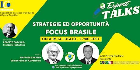 Export Talks - Focus Brasile biglietti