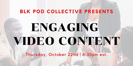 Engaging Video Content Workshop Tickets