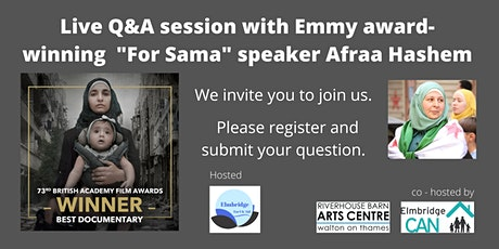For Sama - In conversation with Afraa Hashem tickets