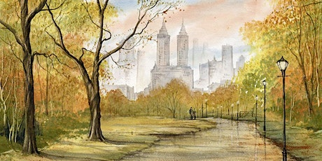 Watercolor Landscapes the Easy Way Central Park in Autumn Live Online Class tickets