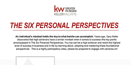 The 6 Personal Perspectives - Virtual! biglietti