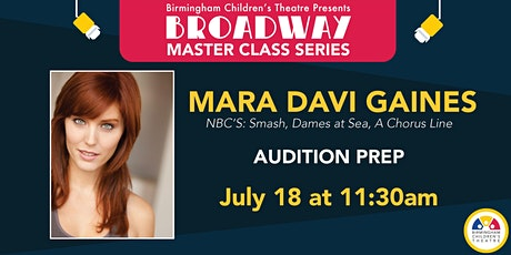 BCT Broadway Master Classes - Mara Davi Gaines tickets