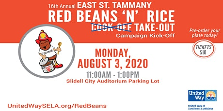 16th Annual Red Beans 'N' Rice Take-Out tickets