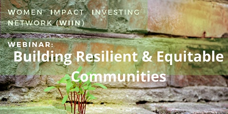 Building Resilient & Equitable Communities tickets