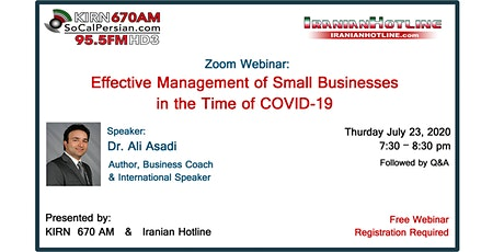 Webinar: Effective Management of Small Businesses in the Time of COVID-19 tickets