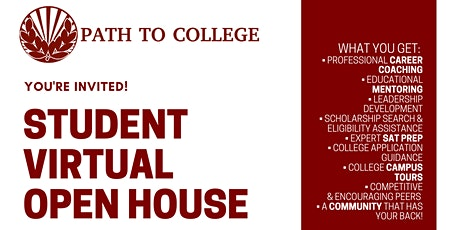 Student Open House tickets