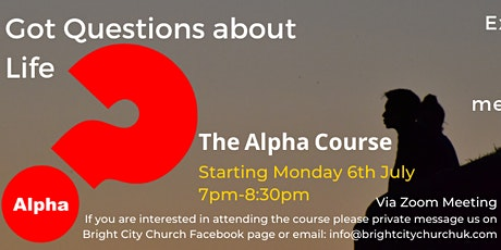 The Alpha Course. Discover the meaning of life. tickets