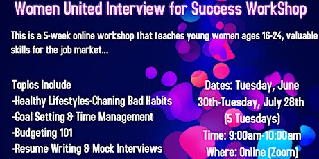 Women United Virtual Interview for Success Workshop tickets