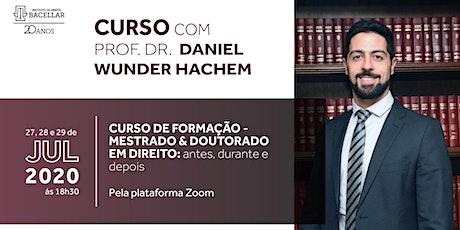 Curso de Formação -Mestrado e Doutorado em Direito: antes, durante e depois ingressos