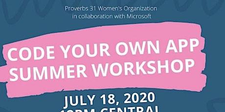 P31 Academy Code Your Own App Summer Workshop tickets