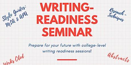 Senior Writing-Readiness Seminar tickets