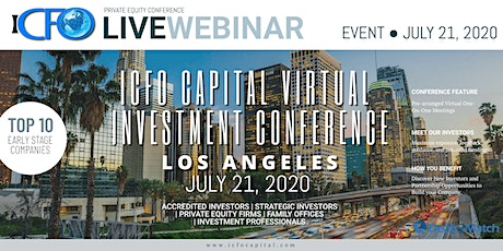 Live Web Event: The iCFO Virtual Investor Conference - Los Angeles, CA tickets