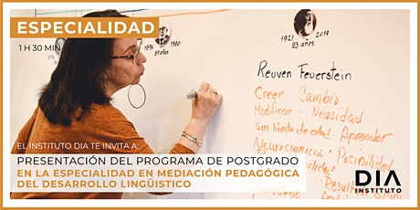 Especialidad en Mediación Pedagógica del Desarrollo Lingüístico. tickets