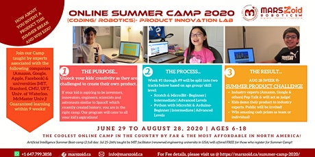 Ultimate Kids Virtual Summer Camp - Jun 29 to Aug 28 - MARSzoid Robotics tickets