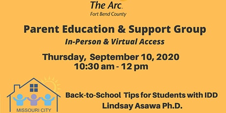 Back-to-School Tips for Students with I/DD- Lindsay Asawa, Ph.D.  Counselor tickets