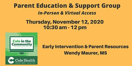 Early Intervention & Parent Resources for Autism - Wendy Maurer, MS tickets