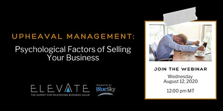 Upheaval Management: Psychological Factors of Selling Your Business billets