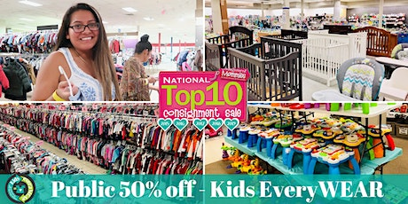 FREE ENTRY - Public 50% off - Kids EveryWEAR Consignment Sale! tickets