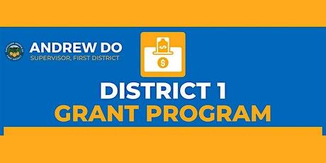 Orange County District 1 Grant Program Info Webinar tickets