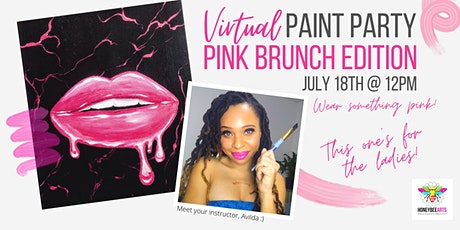 Virtual Paint Party: Pink Brunch Edition tickets