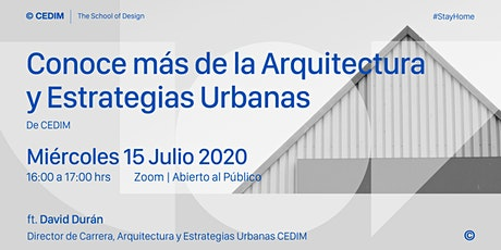 → Conoce más de la Arquitectura y Estrategias Urbanas. entradas