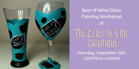 Oktoberfest Beer Mug & Wine Glass Painting Workshop tickets